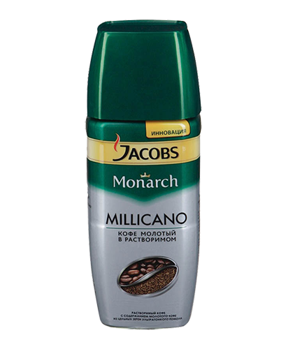 "Растворимый кофе ""Jacobs Monarch Millicano""  95 гр. (стекло)"